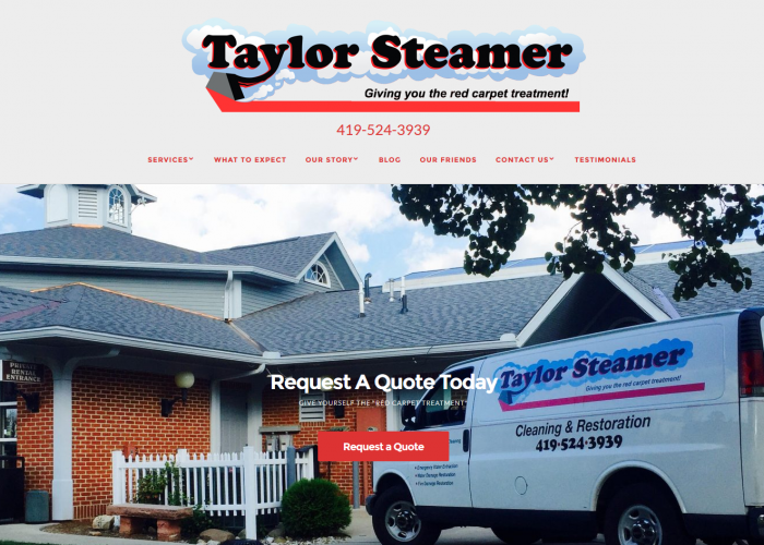Taylor Steamer website