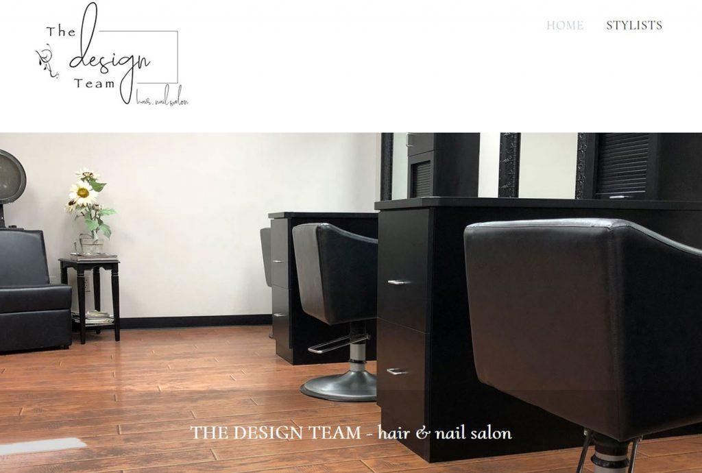 The Design Team - Hair & Nail Salon - home page